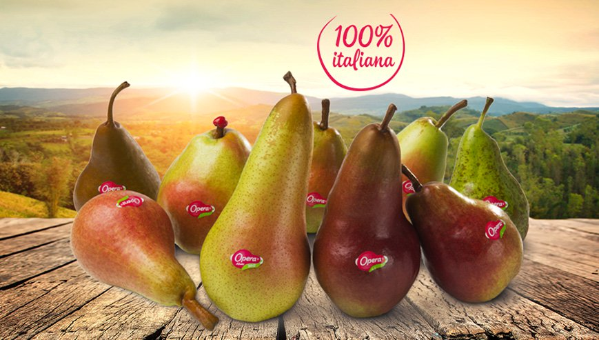 The delicious Opera pears reach out to Italians!
