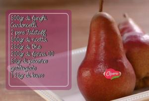 Riepilogo ingredienti per preparazione ricetta Crostata con Pere Falsaff