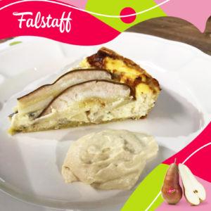 Piatto con torta di pere Falstaff