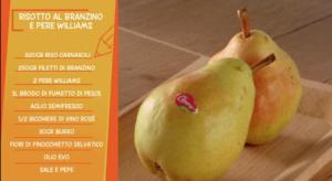 Riepilogo ingredienti per preparazione ricetta Risotto con Pere Williams