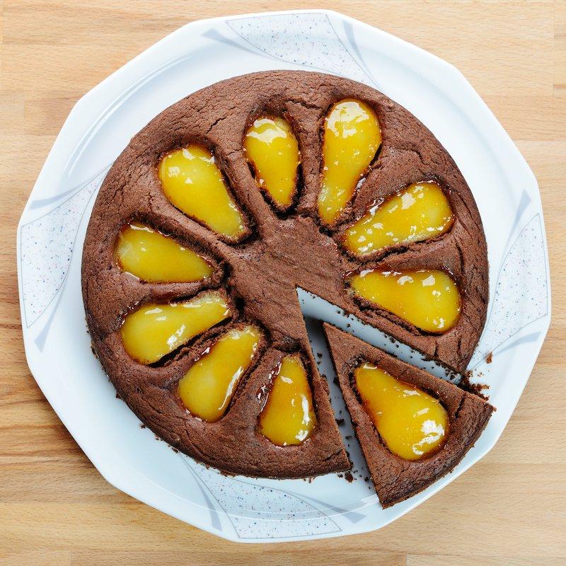 Torta di cioccolato e pere senza burro: un leggerissimo piacere
